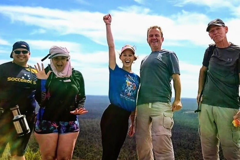 Happy day hikers on the Bibbulmun Track